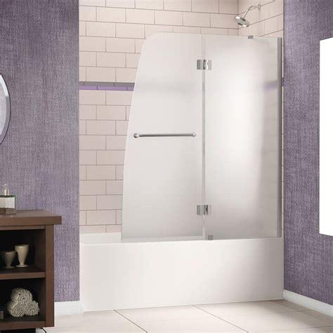 Semi Framed Shower Door Dreamline Aqua 48 In X 58 In Semi Framed Pivot Tub Shower Door In Chrome For Left Wall