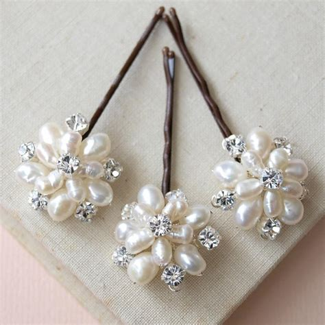 Wedding Hair Accessories Pearl Uk by Flora Pearl Hair Pins Wedding Hair Accessories Bridal