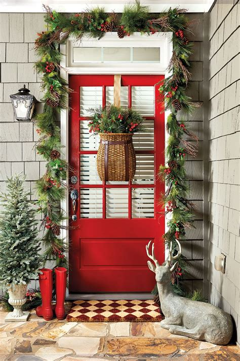 ways  decorate  entry   holidays front