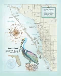 map of siesta florida sarasota siesta key area artistic map