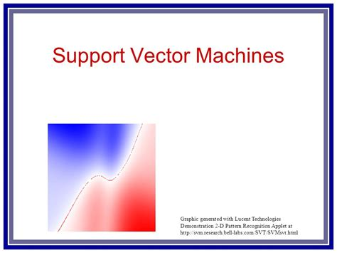 pattern recognition using svm support vector machines ppt video online download