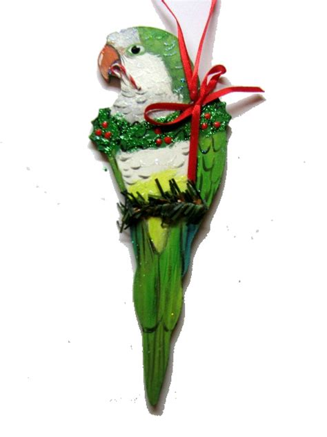 quaker parrot christmas holiday ornament