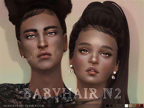 cc hair sims 4 baby daerilia s mimilky babyhair n2