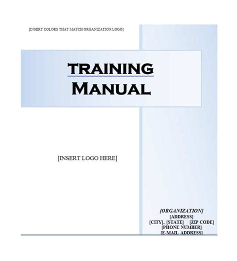 trainer manual template manual 40 free templates exles in ms word