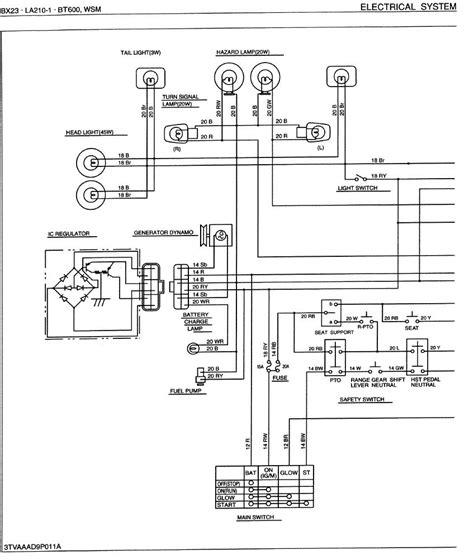 tractor alternator wiring diagram diagram wiring diagram kubota tractor b7100 hst harness