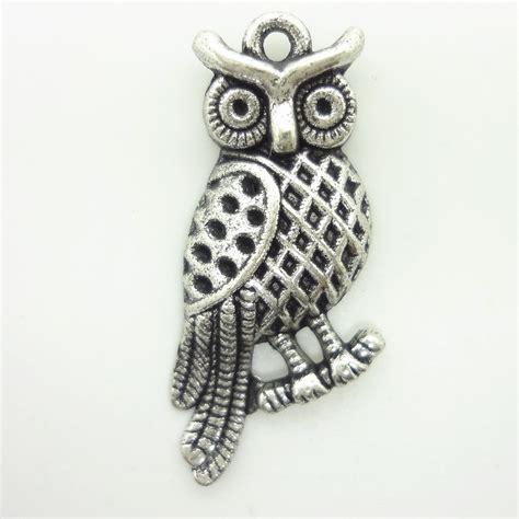 2017 charms antique plated silver zinc alloy owl habitat