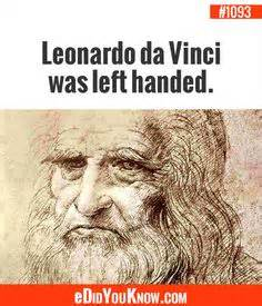 encyclopedia of world biography leonardo da vinci left handed people tend to be more creative and better