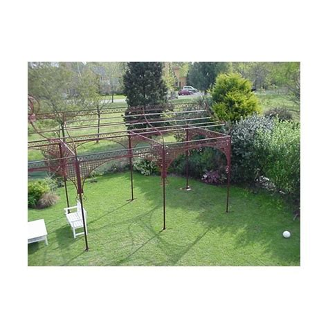 cast iron pergola mid wrought and cast iron pergola or decorative garden structure for sale at 1stdibs