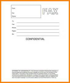 Fax Cover Letter Sle by 10 Confidential Fax Cover Sheets Resume Emails