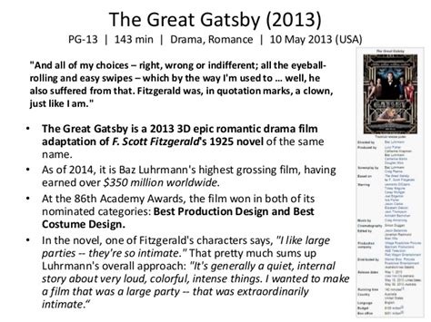 theme of tragedy in the great gatsby baz luhrmann style themes collaboration