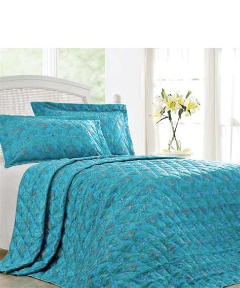 Nimbus King Quilted Bedspread In Turquoise Designer