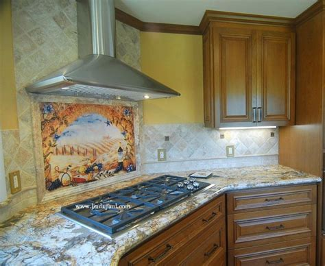 tuscany window kitchen backsplash tile mural for tuscan