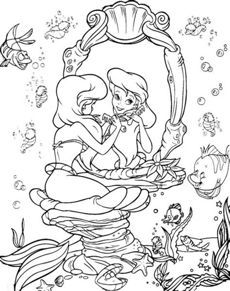 Get This Little Mermaid Coloring Pages Princess Ariel 45601 Coloring Books