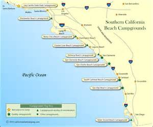 map of california coastline beaches southern california cground map