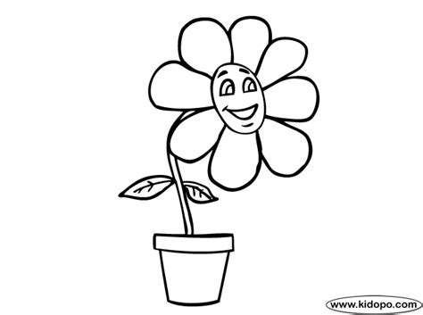 happy flower coloring page happy flowers colouring pages
