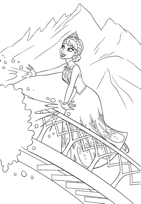 Walt Disney Coloring Pages Queen Elsa Walt Disney Disney Frozen Coloring Pages For Elsa Free