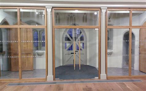 Church Glass Doors Veon Glass Bespoke Structural Glass Solutions Frameless Glass Doors In Teighmouth