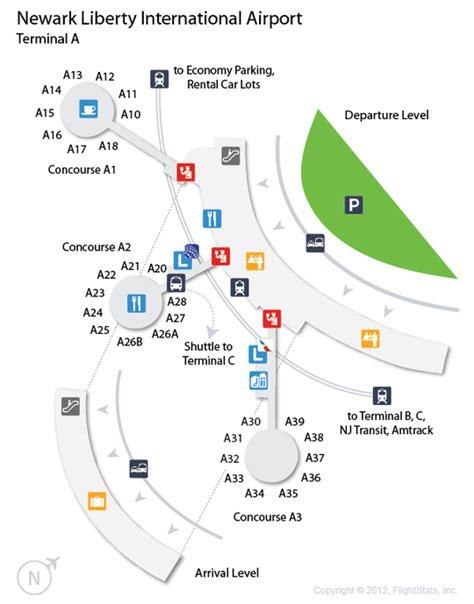ewr airport map uc ewr flyertalk forums