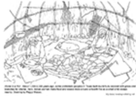 coloriages pr 233 histoire 32 coloriages - Hutte Préhistoire