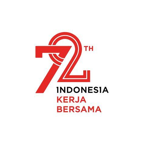 Kaos Hut Indonesia Raya 72 Tahun logo vector resmi 72 tahun indonesia kerja bersama desain graphix