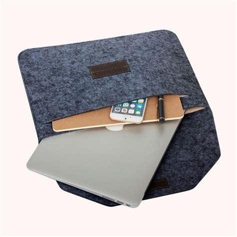 15 Inch Sleeve Cover Felt Single Slot Compartment New Design 1 15 inch inner package phone tablet felt bag for iphone 7 plus iphone 7 macbook retina