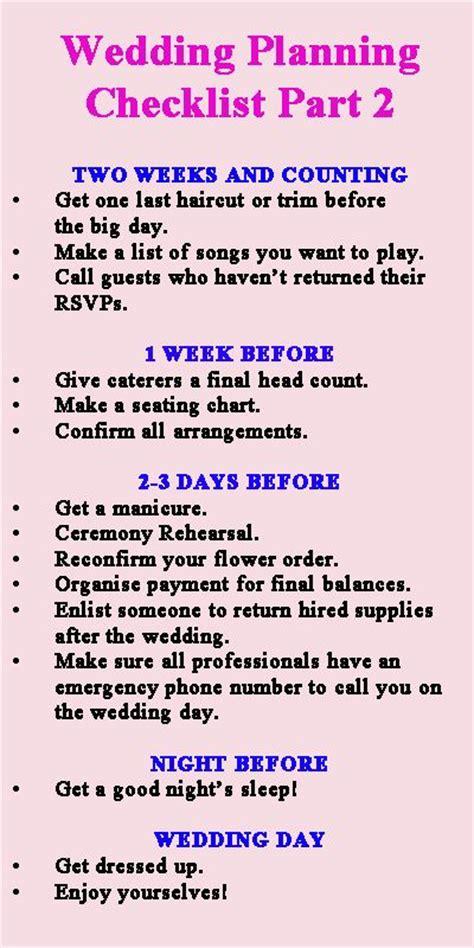 Wedding Preparation Ideas by Last Minute Wedding Preparations Wedding Planning