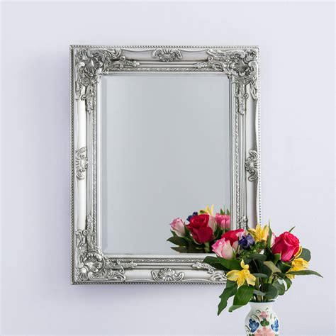 Handcrafted Mirrors - silver pewter mirror by crafted mirrors