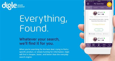 New Search Engines Digle Is Powered Social Search Engine For Best Deals What S New On The Net