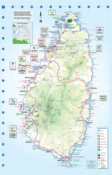 map of st island best 20 rodney bay st lucia ideas on