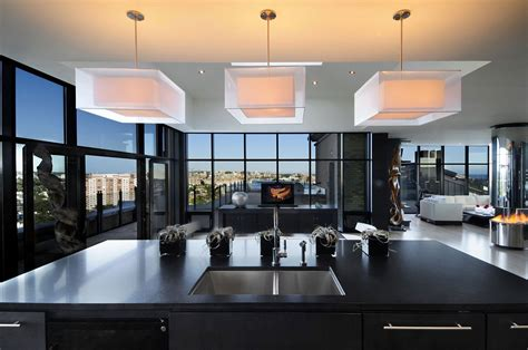 Best Kitchen Island Design by Cozy Penthouse A Modern Apartment With Strong Vibes