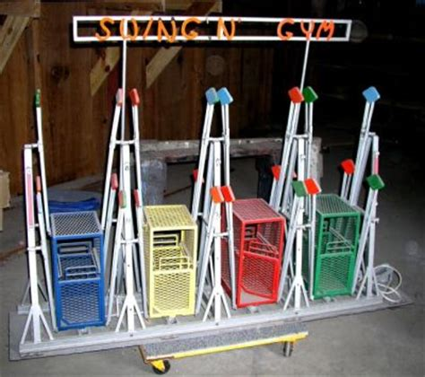 swinging gym carnival ride for sale 1930s 40s swing n gym salesman sle carnival rid 584756