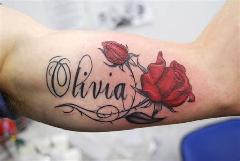 rose name tattoos designs designs name tattoos
