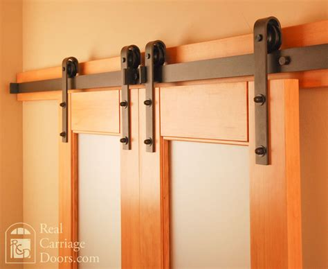 Small Barn Door Hardware Classic Flat Track Barn Door Hardware Traditional Seattle By Real Sliding Hardware