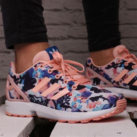 girls floral adidas zx flux coral haze bb