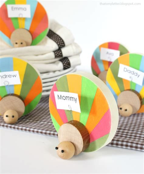 Lets Get Crafty Diy Place Card Holders by Diy Wood Turkey Place Card Holders Lolly
