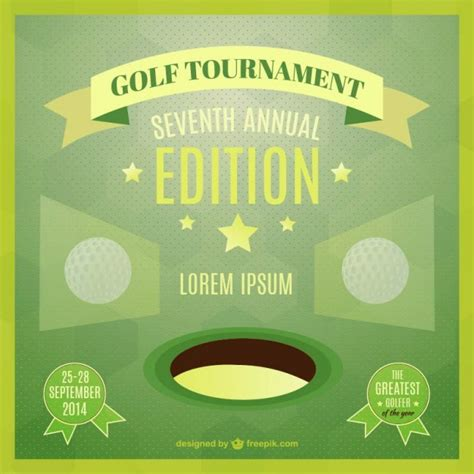 vector template of golf tournament poster vector free