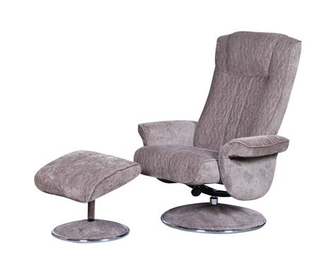 recliner swivel chair and stool dolan fudge velour fabric swivel chair and foot stool
