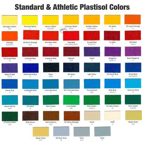 paint colors for union 9 best images of union inks plastisol colors charts