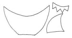 shark hat craft template flowerpot shark