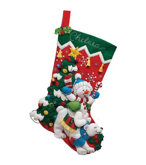 Felt Applique Kits by Bucilla Felt Applique Kit Snowman Polar At