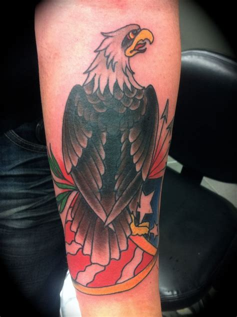 eagle tattoo cover traditional tattoos eagle cover up tattoo by nick kelly