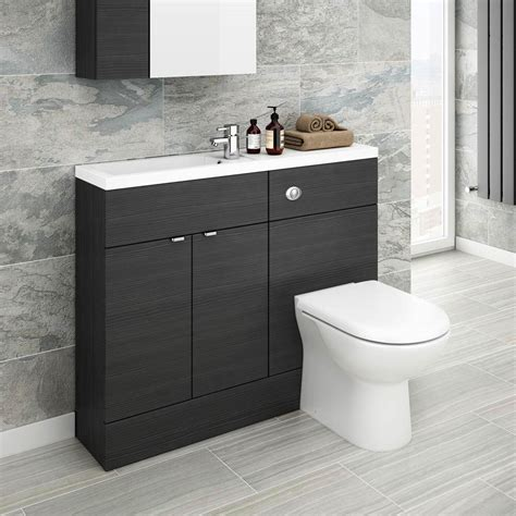 Slimline Bathroom Furniture Black Slimline Combination Furniture Plumbing