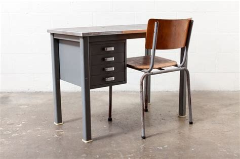 Small Metal Desk Small Industrial Metal Desk Room Pinterest