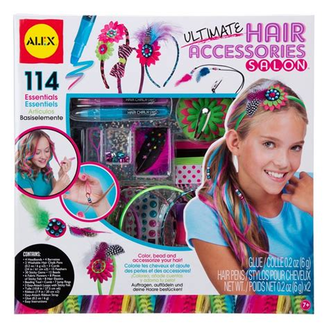 Hair Style Kit Toys by Ultimate Hair Accessories Salon Deluxe Craft Kit For
