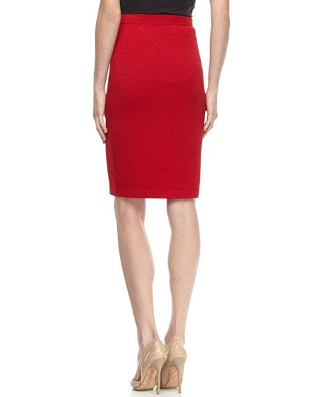 st santana knit pull on pencil skirt ruby