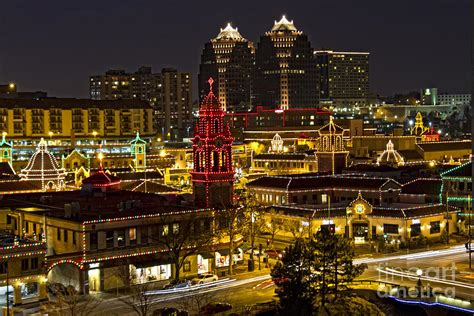 kansas city plaza at christmas photograph by carolyn fox