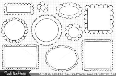 doodle frame free vector by paula studio in graphics web elements