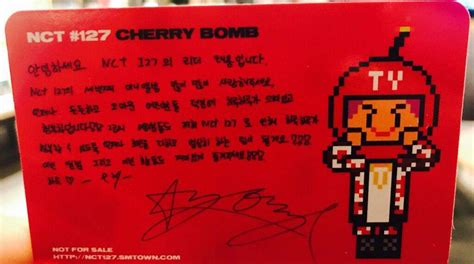 Nct127 3rd Mini Album Nct 127 Cherry Bomb 1 trans nct 127 3rd mini album cherry bomb photocard message nct 엔시티 amino