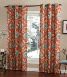 Grommet Style Curtains Ankara Cinnabar Grommet Top Curtain Pair By M Style