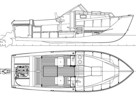 Canoe Bookcase Plans 23 Wooden Shoe An I O Powered Sport Cruiser You Can Build